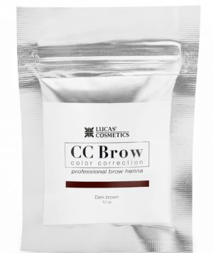 хна для бровей cc brow (dark brown) в саше (темно-коричневый), 10 гр